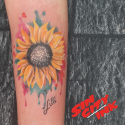 Watercolor Sonnenblume